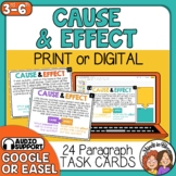 Cause and Effect Task Cards Print or Digital with Google Slides or Easel