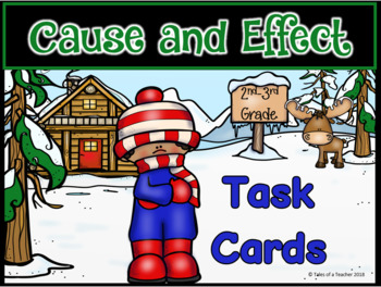 Cause and Effect Task Cards ~ 2nd-3rd Grade Version