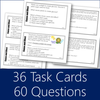 Cause and Effect Task Cards Bundle 1