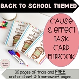 Cause and Effect Task Cards Easy Prep Back to school theme (CCSS)