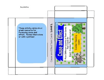 Cause and Effect Task Cards For Each Guided Reading Level (Levels J,K,L,M)