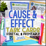 Cause and Effect Task Cards   Distance Learning   Google Classroom