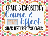 Reading STAAR Test Prep: Cause and Effect Task Cards, Grade 3 TEKS 3.9Diii