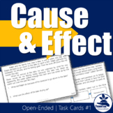 Cause and Effect Task Cards Grades 3-5