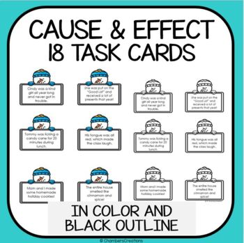 ELA Cause and Effect Matching Game