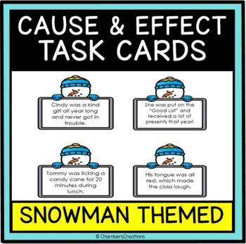 Cause and Effect Task Cards- Winter Edition- Great for Gra