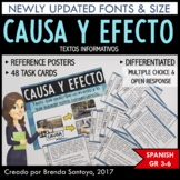 Cause and Effect Task Cards and Game Boards - Causa y Efec