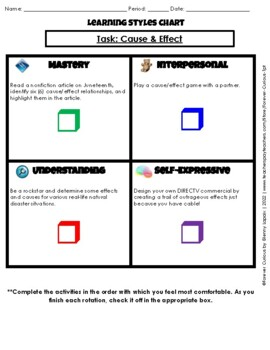 Cause and Effect Task Rotation