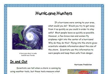 "Cause and Effect / Text Features for ""Hurricane Hunters"" Informational Text"