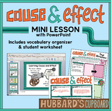 Cause and Effect Text Structure PowerPoint w/ Student Worksheet