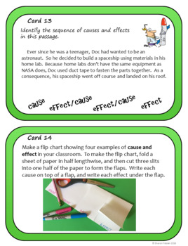 Cause and Effect- Text Structure Task Cards