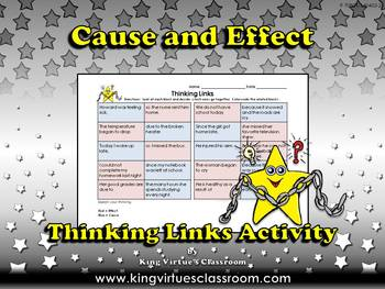Cause and Effect Thinking Links Activity #1 - King Virtue'