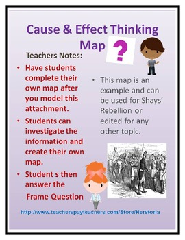 Cause and Effect Thinking Map ~ Graphic Organizer