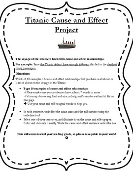 Cause and Effect Titanic Project