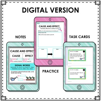 Cause and Effect Unit   Activities   Task Cards   Distance Learning