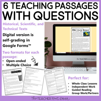 Cause and Effect Using Informational Text: Print and Digital | Distance Learning