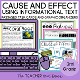 Cause and Effect Using Informational Text Print and Digital Distance Learning