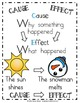Cause and Effect Winter Anchor Chart & Printable for Grades 1 & 2