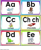 Spanish Alphabet Flashcards and Matching game.