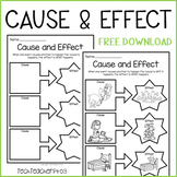 Cause and Effect Worksheet FREE DOWNLOAD