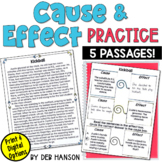 Cause and Effect Worksheets with graphic organizers