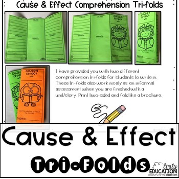 Cause and Effect - Worksheets, Interactive Journal Pages, Graphic Organizers