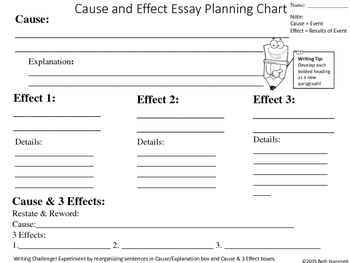 Cause and Effect Practice Handouts for Grades 7-12