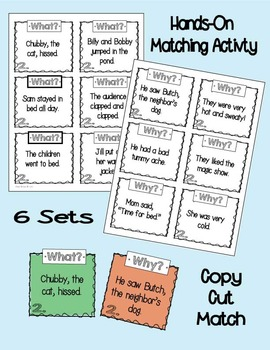 Cause and Effect Learning Activity Packet