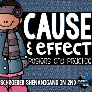 Cause and Effect anchor charts and activity cards