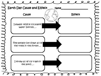 Cause and Effect for Earth Day!
