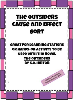 """Cause and Effect in """"The Outsiders"""" by S.E. Hinton"""