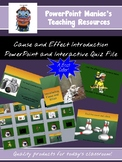 Cause and Effect introduction PowerPoint lesson and Intera