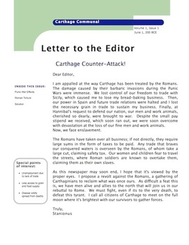 Cause and Effect of Punic Wars: Life as a Carthaginian