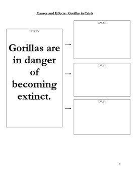 Cause and Effect using Gorillas in Crisis