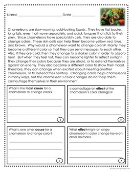 Cause and Effect Informational Text