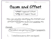 FREE Cause and effect practice graphic organizer!