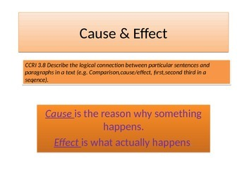 Cause & effect with a story