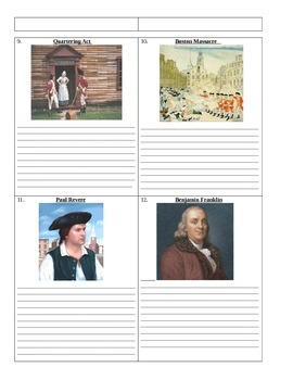 Cause of the American Revolutionary War: Who's Who and What's What Assignment