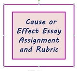 Cause or Effect Essay Assignment and Rubric for ESL Writers or High School