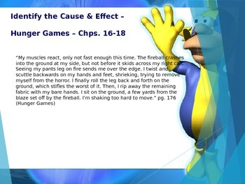 Cause/Effect Powerpoint - Hunger Games