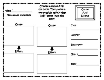 Cause/Effect Trifold