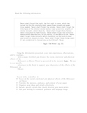Cause/Effect essay prompt on Night by Elie Wiesel