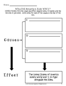 Causes & Effects of World War I Sorting Activity (Bonus Graphic Organizers!)