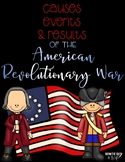 Causes Events and Results of the American Revolution Reading Passage FREEBIE