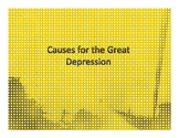 Causes Of the Great Depression Note Taking