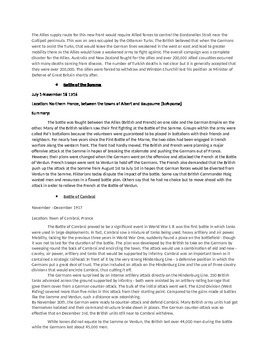 Causes and Battles of WWI Study Guide