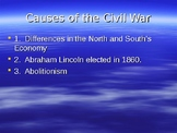 Causes and Consequences of the Civil War and Reconstruction