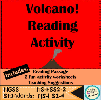Cause and Effects of Volcanoes Close Reading and Worksheet