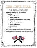 Causes and Effects of the Civil War Bundle