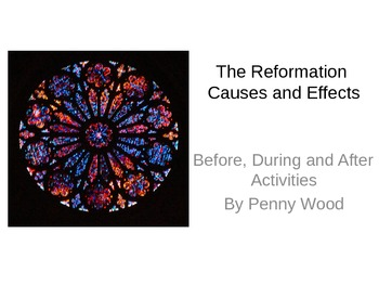 Causes and Effects of the Reformation Lesson